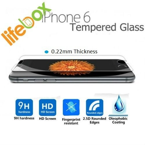 LifeBox iPhone 6 Ultra Thin Tempered Glass Premium Screen Protector