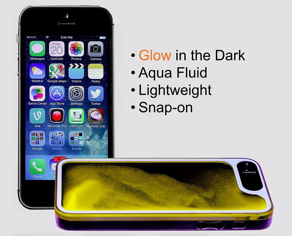 LifeBox Glow, Aqua Fluid iPhone 5/5s Case