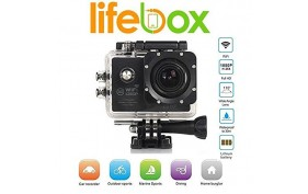 """LifeBox Warrior WiFi Black 1080P 2.0"""" LCD Full HD Water Resistance Action Camera"""