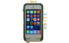 LifeBox Iphone 5 Case - Waterproof Dustproof Shockproof Snowproof Crash Proof Holster and Case with Bonus Armband (White)